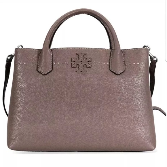 7719abdc4651 Tory Burch McGraw Triple Compartment Satchel. M 5b0eece6331627092cc2618e